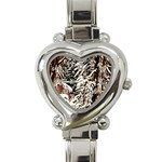 Castle Yard In Winter - Ave Hurley Heart Italian Charm Watch