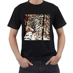 Castle Yard In Winter - Ave Hurley Black T-Shirt (Two Sides)