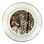 Castle Yard In Winter - Ave Hurley Porcelain Plate