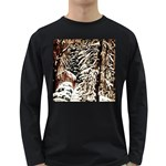 Castle Yard In Winter - Ave Hurley Long Sleeve Dark T-Shirt