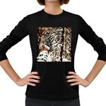 Castle Yard in Winter -AveHurley ArtRevu.com- Women s Long Sleeve Dark T-Shirt