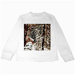 Castle Yard in Winter -AveHurley ArtRevu.com- Kids Long Sleeve T-Shirt