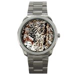 Castle Yard in Winter -AveHurley ArtRevu.com- Sport Metal Watch