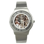 Castle Yard in Winter -AveHurley ArtRevu.com- Stainless Steel Watch