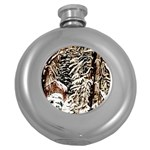 Castle Yard in Winter -AveHurley ArtRevu.com- Hip Flask (5 oz)