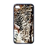Castle Yard in Winter -AveHurley ArtRevu.com- Apple iPhone 4 Case (Black)