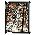 Castle Yard in Winter -AveHurley ArtRevu.com- Apple iPad 2 Case (Black)
