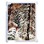 Castle Yard in Winter -AveHurley ArtRevu.com- Apple iPad 2 Case (White)