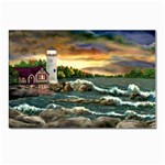 David s Lighthouse -AveHurley ArtRevu.com- Postcards 5  x 7  (Pkg of 10)