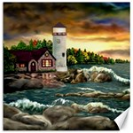 David s Lighthouse - Ave Hurley - Canvas 12  x 12