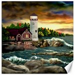 David s Lighthouse ~ Ave Hurley - Canvas 16  x 16