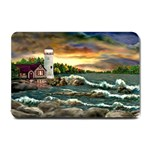 David s Lighthouse -AveHurley ArtRevu.com- Small Doormat