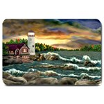 David s Lighthouse -AveHurley ArtRevu.com- Large Doormat
