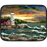 David s Lighthouse -AveHurley ArtRevu.com- Double Sided Fleece Blanket (Mini)