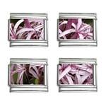 purple flowers 9mm Italian Charm (4 pack)