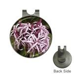 purple flowers Golf Ball Marker Hat Clip