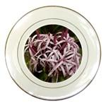 purple flowers Porcelain Plate