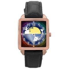 Fishing Dead Rose Gold Leather Watch  by Contest1763580