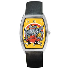 Flying Monkey Tonneau Leather Watch by Contest1738792