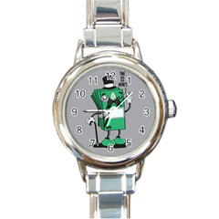 Don t Waste Your Time    Round Italian Charm Watch by Contest1771648