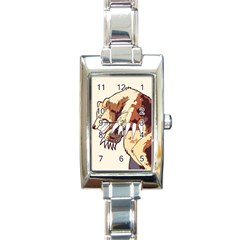 Bear Time Rectangular Italian Charm Watch by Contest1780262