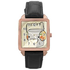 Happy Beam Rose Gold Leather Watch  by RachelIsaacs
