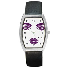 Beauty Time Tonneau Leather Watch by Contest1704350
