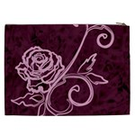 Rose Cosmetic Bag (XXL) Back
