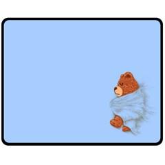 Ssssssttttttt    My Teddy Was Sleeping  Fleece Blanket (medium) by Contest1736674