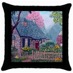 Essex House Cottage -AveHurley ArtRevu.com- Throw Pillow Case (Black)