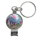 Essex House Cottage -AveHurley ArtRevu.com- Nail Clippers Key Chain