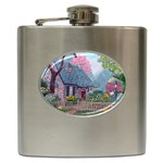 Essex House Cottage -AveHurley ArtRevu.com- Hip Flask (6 oz)