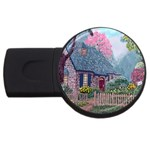 Essex House Cottage -AveHurley ArtRevu.com- USB Flash Drive Round (2 GB)