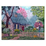 Essex House Cottage -AveHurley ArtRevu.com- Jigsaw Puzzle (Rectangular)