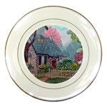 Essex House Cottage -AveHurley ArtRevu.com- Porcelain Plate
