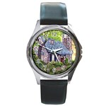 Essex Lighthouse -AveHurley ArtRevu.com- Round Metal Watch