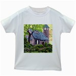Essex Lighthouse -AveHurley ArtRevu.com- Kids White T-Shirt
