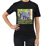 Essex Lighthouse -AveHurley ArtRevu.com- Women s T-Shirt (Black) (Two Sided)