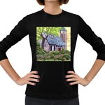 Essex Lighthouse -AveHurley ArtRevu.com- Women s Long Sleeve Dark T-Shirt
