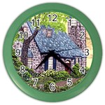 Essex Lighthouse -AveHurley ArtRevu.com- Color Wall Clock