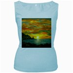 James Hurley Point Lighthouse -AveHurley ArtRevu.com- Women s Baby Blue Tank Top