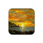 James Hurley Point Lighthouse -AveHurley ArtRevu.com- Rubber Coaster (Square)