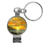 James Hurley Point Lighthouse -AveHurley ArtRevu.com- Nail Clippers Key Chain