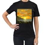 James Hurley Point Lighthouse -AveHurley ArtRevu.com- Women s T-Shirt (Black) (Two Sided)