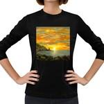 James Hurley Point Lighthouse -AveHurley ArtRevu.com- Women s Long Sleeve Dark T-Shirt