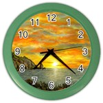 James Hurley Point Lighthouse -AveHurley ArtRevu.com- Color Wall Clock