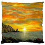 James Hurley Point Lighthouse -AveHurley ArtRevu.com- Large Cushion Case (One Side)