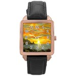 James Hurley Point Lighthouse -AveHurley ArtRevu.com- Rose Gold Leather Watch