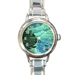 Jerrys Lighthouse -  Ave Hurley - Wrap Canvas Version Round Italian Charm Watch