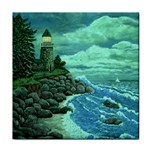 Jerrys Lighthouse -  Ave Hurley - Wrap Canvas Version Tile Coaster